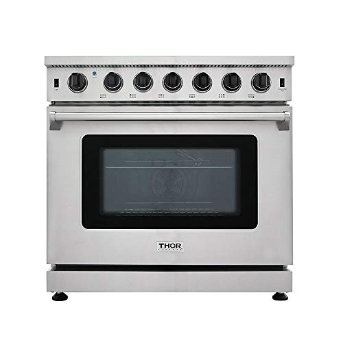 36in Freestanding Range - New Arrival 36 Inch Gas Range 6 Burners Cooktop 6.0 cu.ft Oven Thor Kitchen LRG3601U