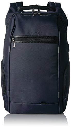 Nautica Men's Business Tech USB Water Resistant Nylon Laptop Backpack, Navy, One Size For Sale