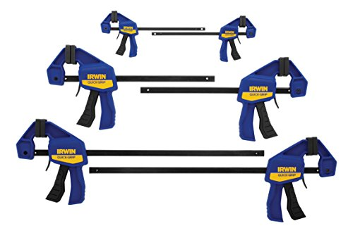 - IRWINQUICK-GRIPOne-Handed Mini Bar Clamp 6 Pack, (2) 4-1/4