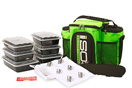 Isobag 3 Meal Reverse Lime Green/Black - Key Lime Container