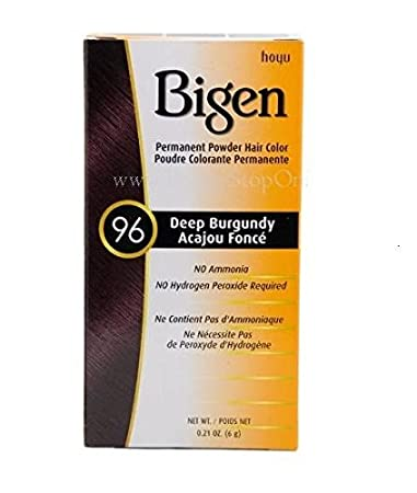 Bigen Permanent Powder Hair Color, Deep Burgundy.21 Ounce