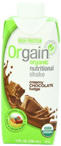 Orgain Сливочный шоколад Fudge, 11 унций. Контейнер (Count из 12)