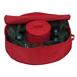 Richards Homewares Holiday Wreath Bag with Center Storage, 30-Inches