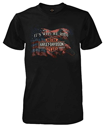 Harley-Davidson Men's Why We Ride Short Sleeve Crew-Neck T-Shirt, Black (Harley Davidson Usa)
