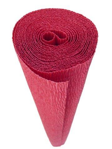 Crepe Velvet - Premium Italian Crepe Paper Roll Heavy-Weight 180 gram - 586 Red Velvet
