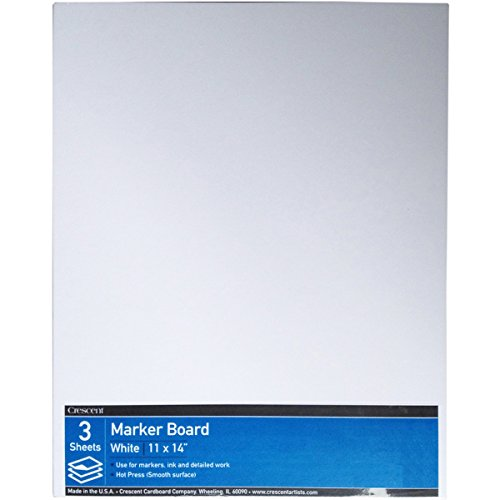 Crescent Mount Board - Crescent #215 Marker Board, Hot Press, Value Pack, 3 Count, 11