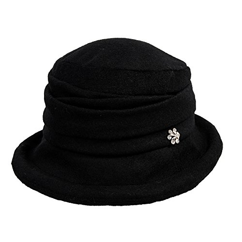 Womens Vintage Cloche Bucket Packable