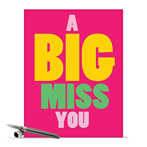 J2733MYG Jumbo Miss You Greeting Card: A Big Miss You, with Envelope (Big Size: 8.5