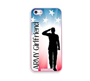 Shawnex Proud US Army Girlfriend Flag Pink Plastic iPhone 5 & 5S Case - Fits iPhone 5 & 5S