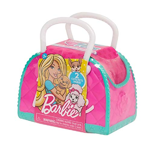 Barbie Loves Pets Doll Pet Carrier Accessory Pack with 2 Puppies