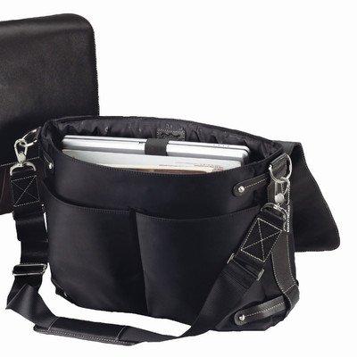 The Orient Express Leather Laptop Briefcase Color: Black
