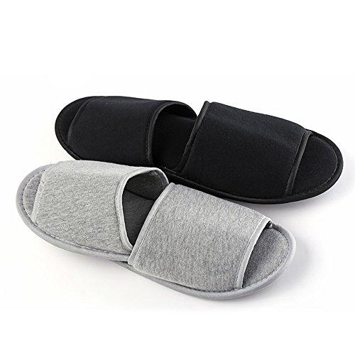 BANZI - Zapatillas de estar por casa de Lona para mujer Talla Unica gris