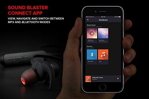 Creative Outlier One Plus inalámbrico Bluetooth 4.2, IPX4 Resistente al Sudor Auriculares in-Ear con Reproductor MP3 Integrado, 10 Horas duración de la ...
