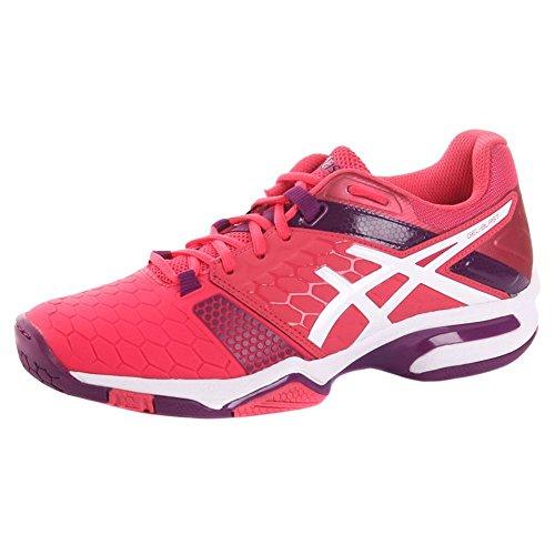 Asics Gel-Blast 7, Zapatos de Balonmano Americano para Mujer Multicolor (Rouge Red/white/prune)