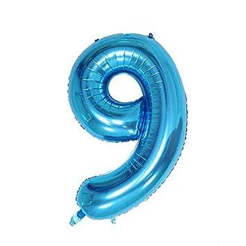ShopVip Globos de cumpleaños - Número 9 - Decoración ...