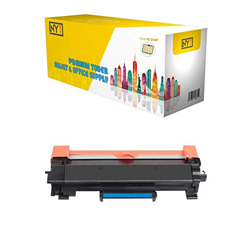 NYT Replacement for Brother TN760 Toner Cartridge - TN 760 High Yield with Chip for Brother HL-L2350DW HL-L2370DW XL HL-L2390DW DCP-L2550DW HL-L2395DW MFC-L2710DW MFC-L2750DW XL - Black - 1 Pack
