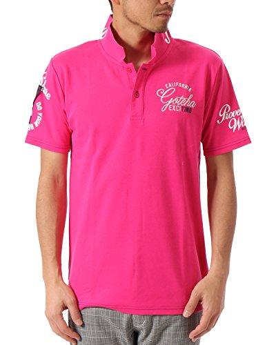 (ガッチャ ゴルフ) GOTCHA GOLF ポロシャツ BASIC スムース ポロ 7 [吸水速乾] 182GG1200 ピンク XLサイズ