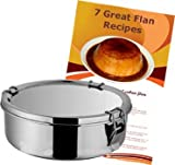 Flan Mold Stainless Steel. 1.5 quart capacity, 7 flans recipes included