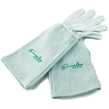 Nice Rose Pruning Gloves For Men And Women. Thorn Proof Goatskin Leather Gardening  Gloves With Long