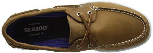 W Bootsportschuhe 907 FGL Eye Litesides Cognac Brown Sebago Two Braun Damen WPqU7xcX