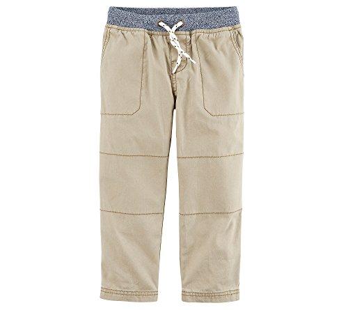 Carter's Boys' 2T-8 Drawstring Pants Khaki 6 (Carters Boys Khaki)
