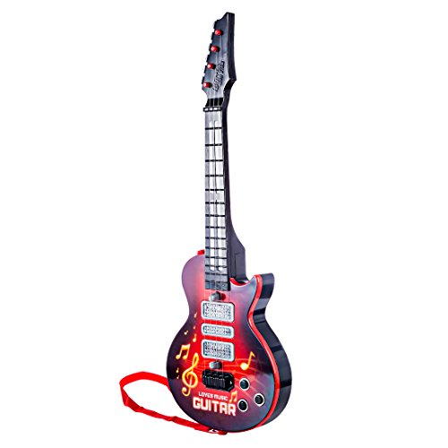 YVSoo Guitarra eléctrica para Niños, 4 Cuerdas Guitarra clásica Instrumentos Musicales Educativos Simulación Juguete Regalo (Rojo 1): Amazon.es: Juguetes y ...