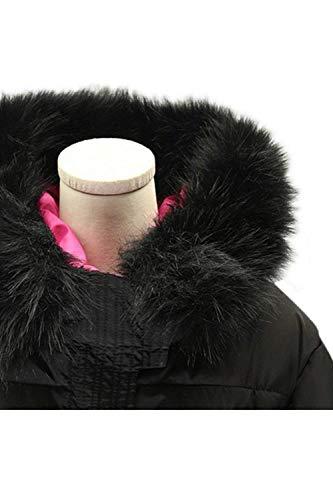 Fashion Tasche Vintage Collo Cappotto Piumini Manica In Sintetica Lunga Nero Autunno Grazioso Invernali Stlie Pelliccia Casual Calda Imbottitura Donna Con Mantello Giacche Cappuccio 6q8wCZCz