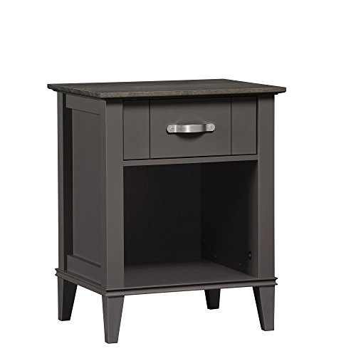 Ameriwood Home Quinn Nightstand, Gray by Ameriwood Home