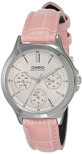 Casio Enticer Lady #39;s Analog Red Dial Women #39;s Watch   A1150  LTP V300L 4AUDF