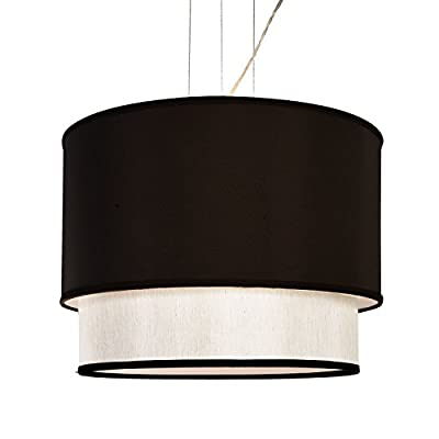 4 Lamp 2 Layer Drum Cylinder Shade Ceiling Light Pendant Dia 20""