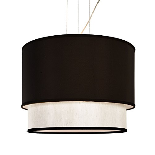 4 Lamp 2 Layer Drum Cylinder Shade Ceiling Light Pendant Dia 20