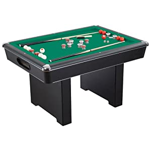 Renegade 54 in slate bumper pool table for family game rooms with green felt 48 in - Pool table green felt ...