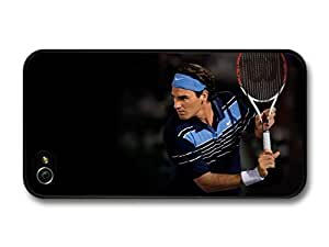 Roger Federer Blue Shirt Playing Tennis case for iPhone 4 4S