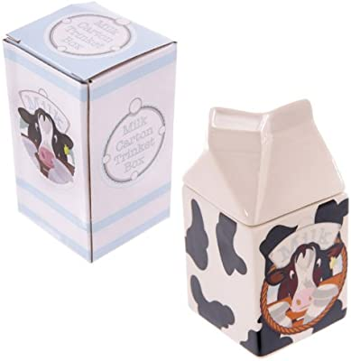 Caja abalorios diseño vaca envase leche: Amazon.es: Electrónica