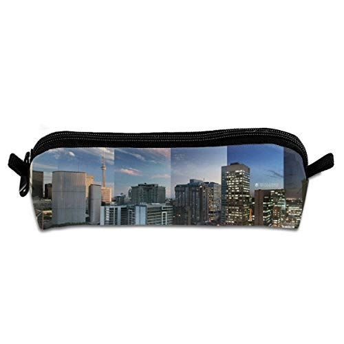 Kui Ju Pencil Bag Pen Case Toronto Cityscape Cosmetic Pouch Students Stationery Bag Zipper Organizer ()