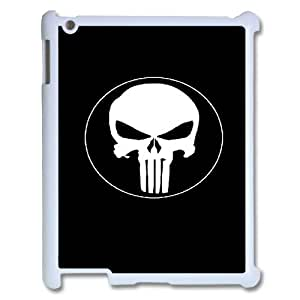 wugdiy New Fashion Hard Back Cover Case for iPad2,3,4 with New Printed The Punisher