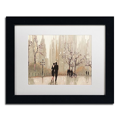 Apple Purinton (An Evening Out Neutral Artwork Julia Purinton in White Matte and Black Frame, 11 by 14-Inch)