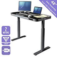 Seville Classics S2 Electric Standing Desk with 54