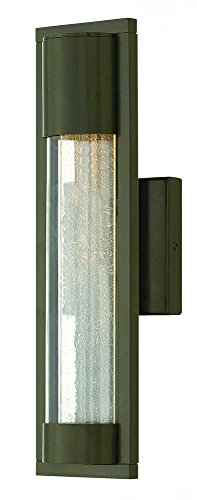Hinkley 1220BZ Contemporary Modern One Light Outdoor Wall Mount from Mist collection in Bronze/Darkfinish,