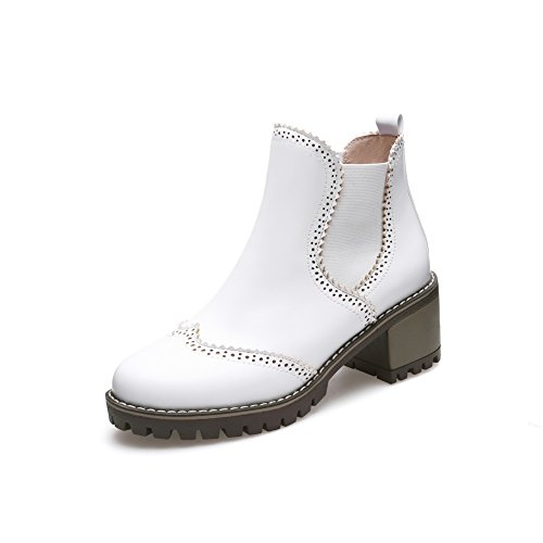 Urethane Closure Boots Boots Womens Fabric AdeeSu White No SXC02513 1tXUwqaZn