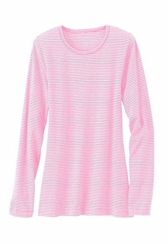 Beyond Scrubs Women's Micro Long Sleeve Underscrub Tee S Pearl Pink/ White