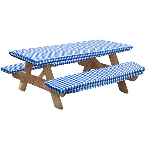 - LAMINET Deluxe Picnic Table Cover - (Set of 3) - Blue