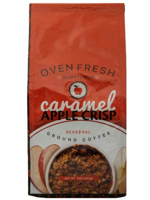 Gourmet Flavored Ground Coffee, Caramel Apple Crisp, 12 OZ Bag, Limited Edition Holiday Flavors
