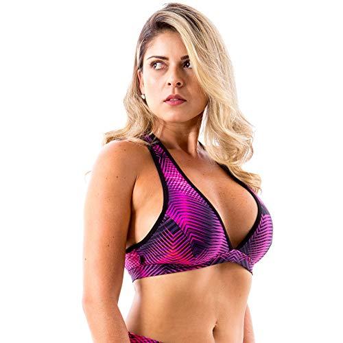 Top Yla Íon Fitness Estampado Média Sustentação Rosa