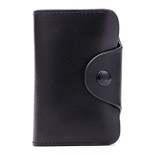 Noir Protecteur En monnaie Card Porte Portefeuilles Carte Cuir Credit Holder Hommes Véritable Femmes wPXx7q6R7