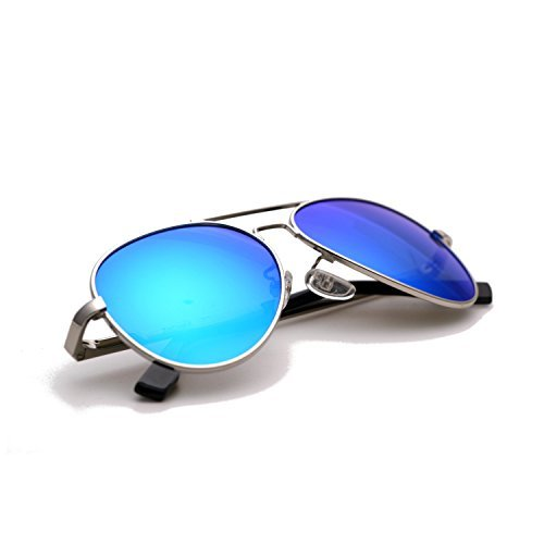 6af0ea3c57 Zacway Small Polarized Spring Hinges Metal Aviator Sunglasses for Men Women  UV400 52mm