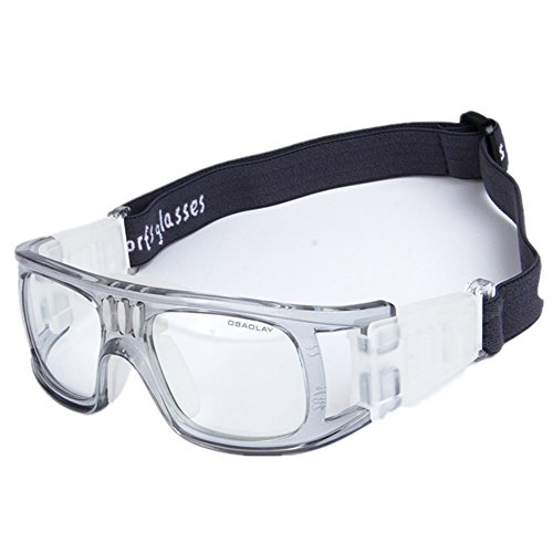Wonzone Men's Sport Glasses Anti-fog Protective Safety Goggles with Adjustable Strap for Basketball Football Hockey Rugby Baseball Soccer Volleyball and More - With Basketball Goggles Player
