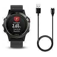 BlueBeach® Remplacement Garmin Fenix 5 5S 5C / Forerunner 935 Câble de Chargement USB Chargeur avec Synchronisation