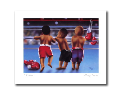 Boxing Champs Forever Ali Tyson and Foreman Sport Wall Picture 8x10 Art -