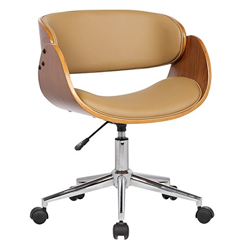 Porthos Home Lydia Office Chair, Stylish Home Office Desk Chair, Height Adjustable, 360 Swivel, with Caster Wheels Unique Luxury Designer Office Chairs Size 21 x 32